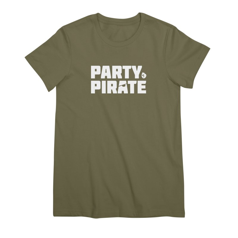 THE Party Pirate Women's Premium T-Shirt by thatssotampa's Artist Shop