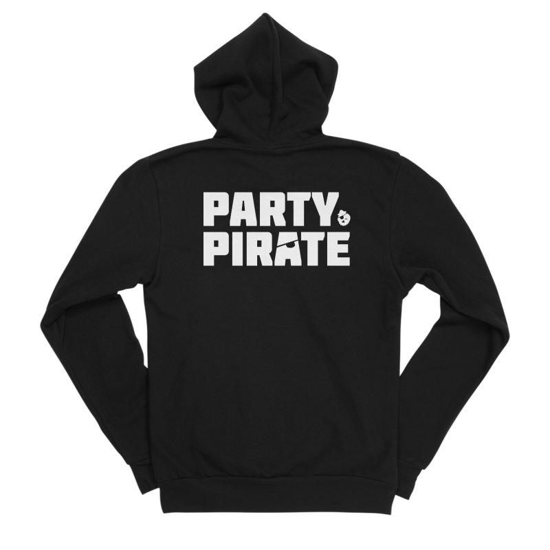 THE Party Pirate Men's Sponge Fleece Zip-Up Hoody by thatssotampa's Artist Shop