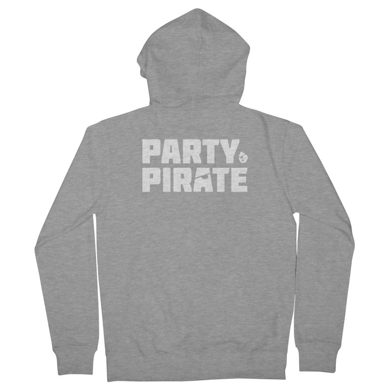 THE Party Pirate Men's French Terry Zip-Up Hoody by thatssotampa's Artist Shop