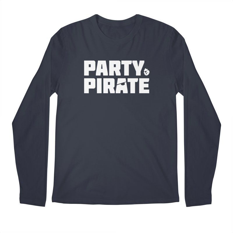 THE Party Pirate Men's Regular Longsleeve T-Shirt by thatssotampa's Artist Shop