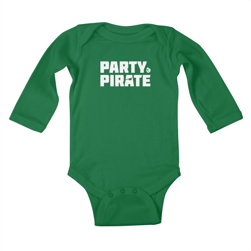 THE Party Pirate Kids Baby Longsleeve Bodysuit by thatssotampa's Artist Shop