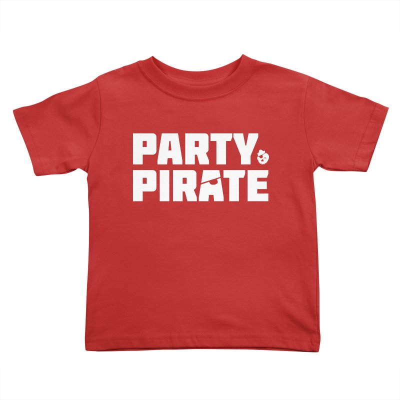 THE Party Pirate Kids Toddler T-Shirt by thatssotampa's Artist Shop
