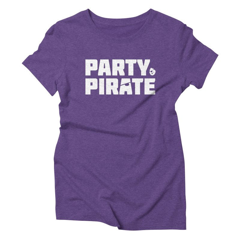 THE Party Pirate Women's Triblend T-Shirt by thatssotampa's Artist Shop