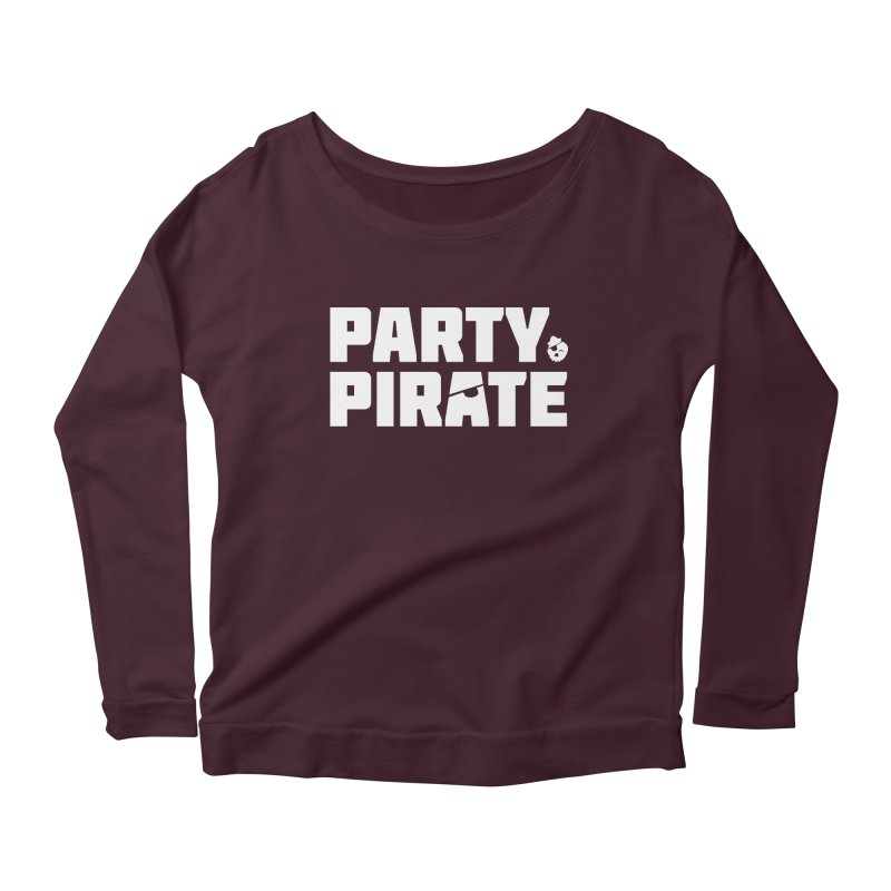 THE Party Pirate Women's Scoop Neck Longsleeve T-Shirt by thatssotampa's Artist Shop