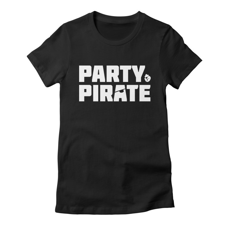 THE Party Pirate Women's Fitted T-Shirt by thatssotampa's Artist Shop
