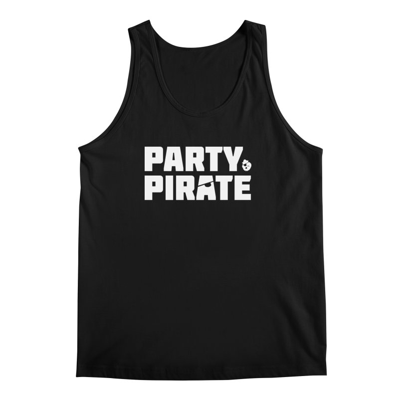 THE Party Pirate in Men's Regular Tank Black by thatssotampa's Artist Shop