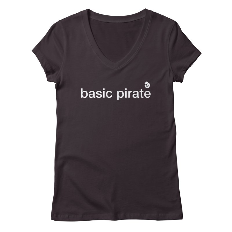 The Basic Pirate Women's Regular V-Neck by thatssotampa's Artist Shop