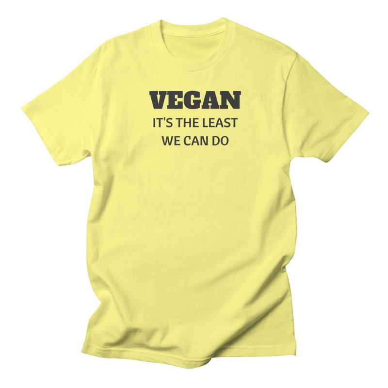 VEGAN IT'S THE LEAST WE CAN DO [Style 6] (Black Font) Men's T-shirt by That Vegan Couple's Shop