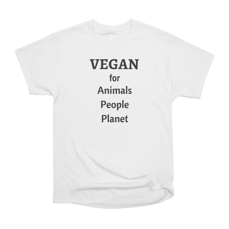 VEGAN for Animals People Planet [Style 4] (Black Font) Men's Classic T-Shirt by That Vegan Couple's Shop