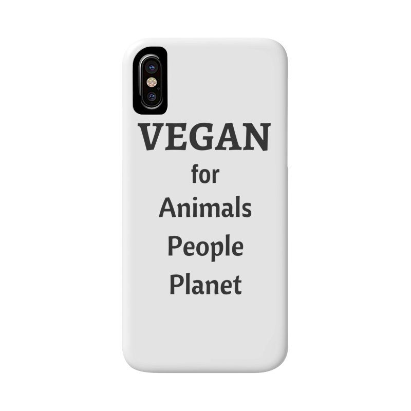 VEGAN for Animals People Planet [Style 4] (Black Font) Accessories Phone Case by That Vegan Couple's Shop