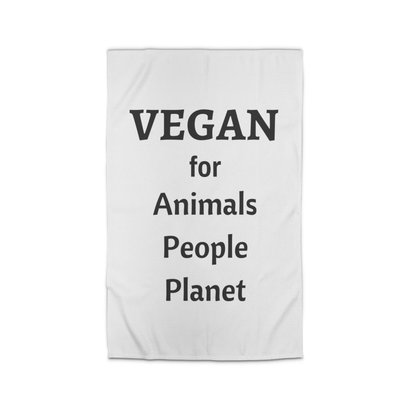 VEGAN for Animals People Planet [Style 4] (Black Font) Home Rug by That Vegan Couple's Shop