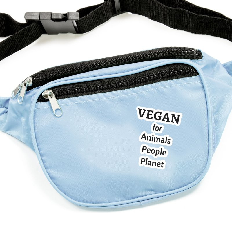 VEGAN for Animals People Planet [Style 4] (Black Font) Accessories Sticker by That Vegan Couple's Shop