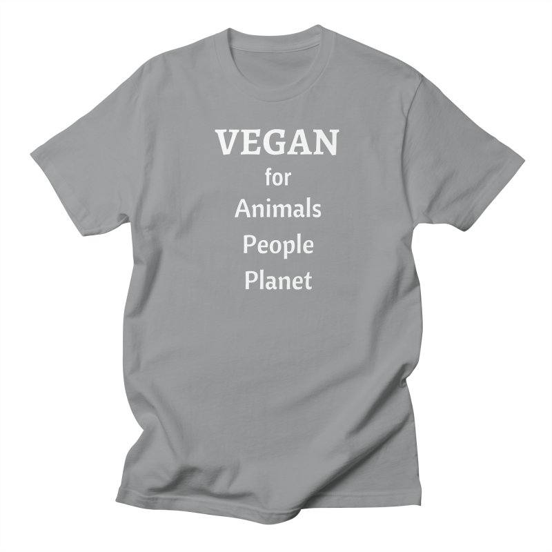VEGAN for Animals People Planet [Style 4] (White Font) Men's T-Shirt by That Vegan Couple's Shop