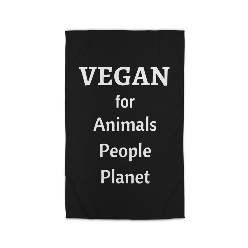 VEGAN for Animals People Planet [Style 4] (White Font) Home Rug by That Vegan Couple's Shop