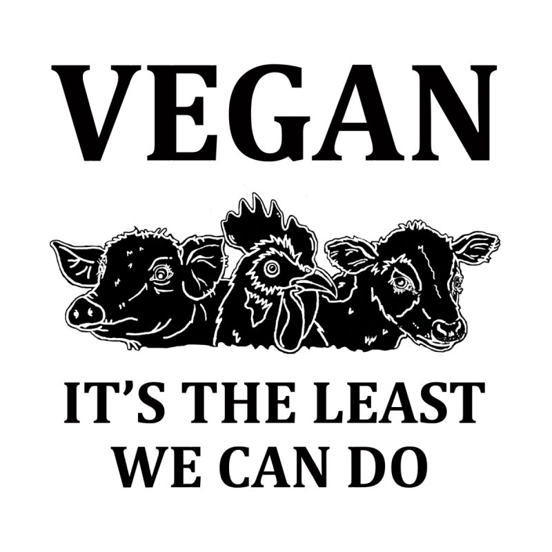 VEGAN IT'S THE LEAST WE CAN DO [Style 8] (Black Font) Accessories Sticker by That Vegan Couple's Shop