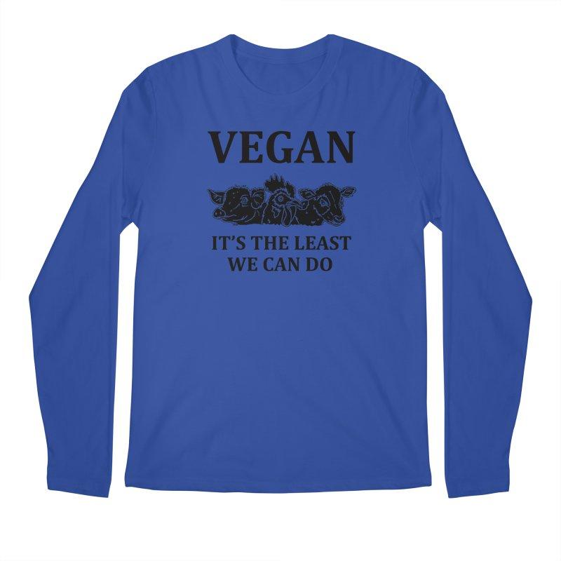 VEGAN IT'S THE LEAST WE CAN DO [Style 8] (Black Font) Men's Longsleeve T-Shirt by That Vegan Couple's Shop