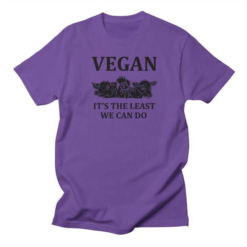 VEGAN IT'S THE LEAST WE CAN DO [Style 8] (Black Font) Men's Regular T-Shirt by That Vegan Couple's Shop