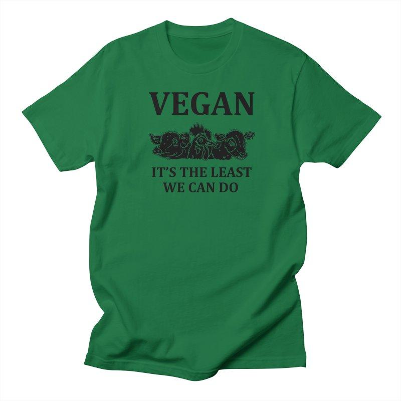VEGAN IT'S THE LEAST WE CAN DO [Style 8] (Black Font) Men's Regular T-Shirt by That Vegan Couple's Shop