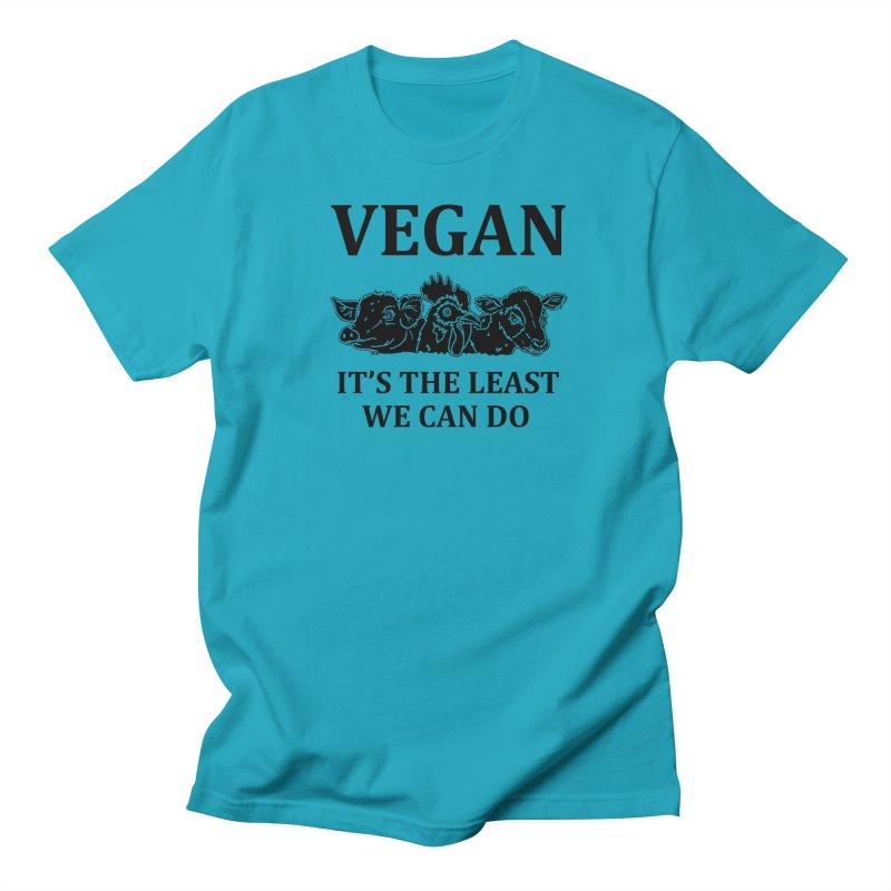 VEGAN IT'S THE LEAST WE CAN DO [Style 8] (Black Font) Women's T-Shirt by That Vegan Couple's Shop