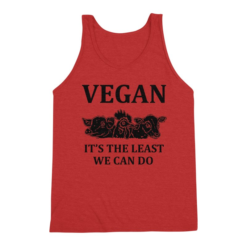 VEGAN IT'S THE LEAST WE CAN DO [Style 8] (Black Font) Men's Tank by That Vegan Couple's Shop