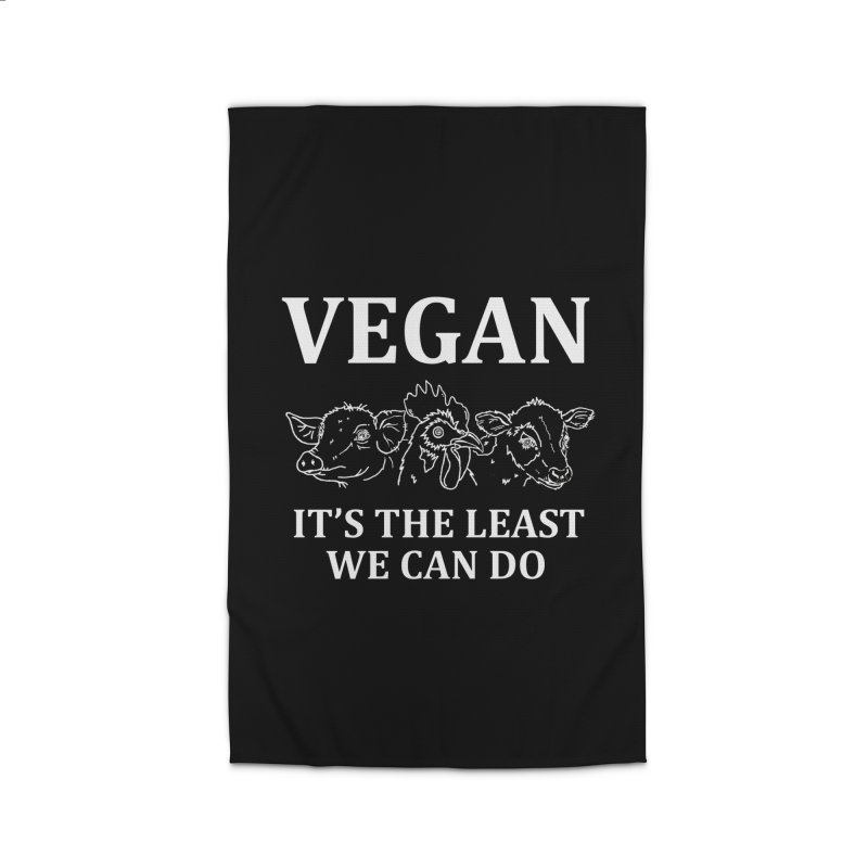 VEGAN IT'S THE LEAST WE CAN DO [Style 7] (White Font) Home Rug by That Vegan Couple's Shop