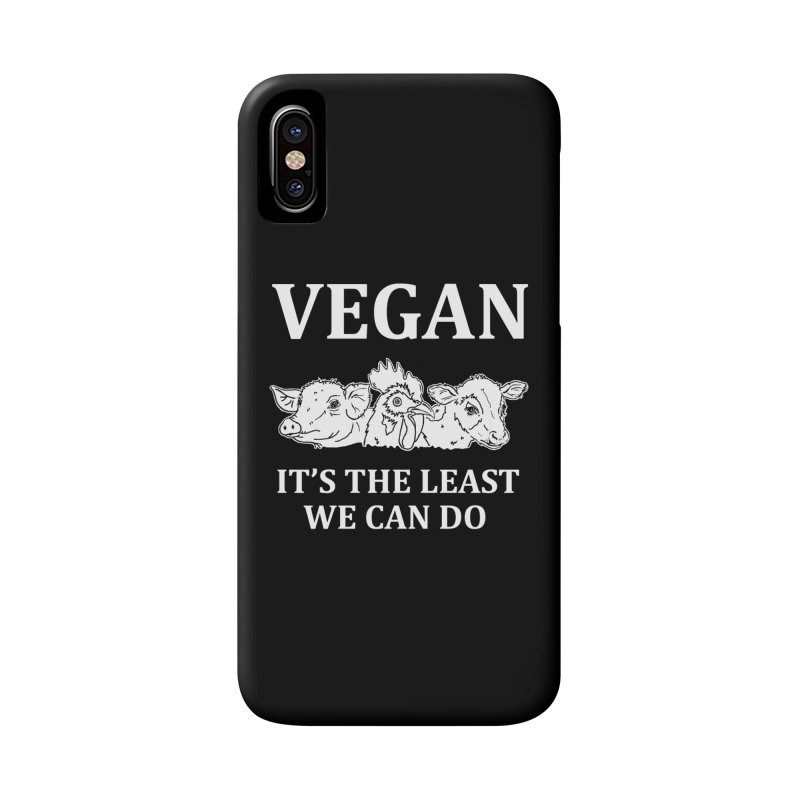 VEGAN IT'S THE LEAST WE CAN DO [Style 8] (White Font) Accessories Phone Case by That Vegan Couple's Shop