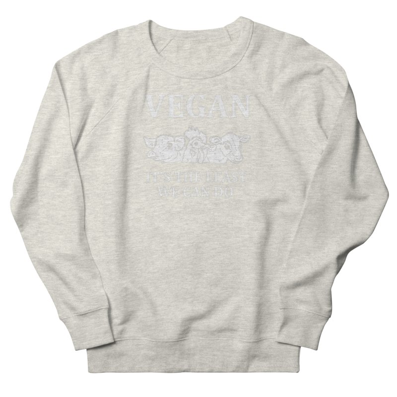 VEGAN IT'S THE LEAST WE CAN DO [Style 8] (White Font) Men's Sweatshirt by That Vegan Couple's Shop