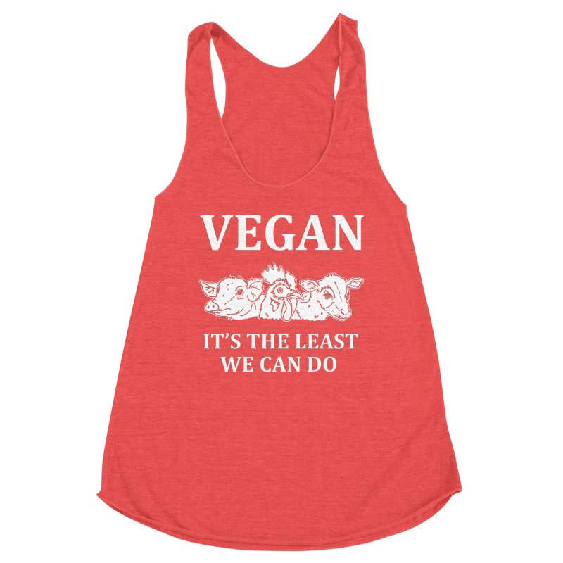 VEGAN IT'S THE LEAST WE CAN DO [Style 8] (White Font) Women's Tank by That Vegan Couple's Shop