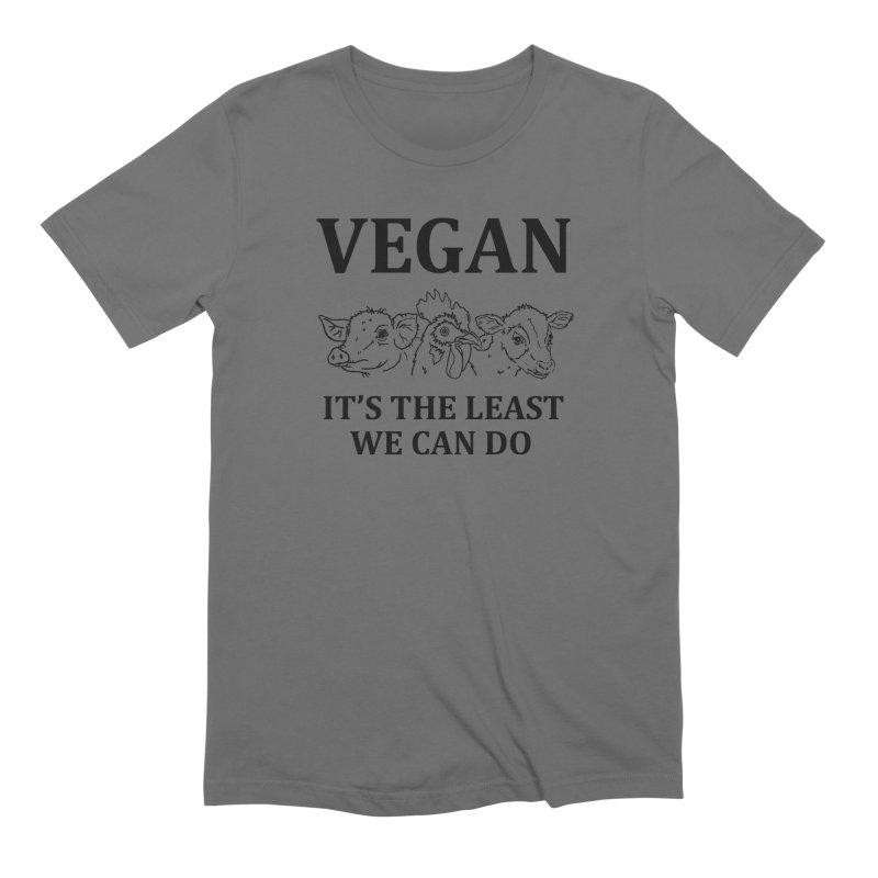 VEGAN IT'S THE LEAST WE CAN DO [Style 7] (Black Font) Men's T-Shirt by That Vegan Couple's Shop