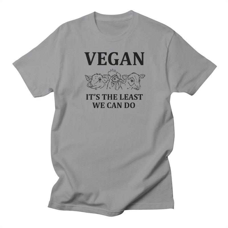 VEGAN IT'S THE LEAST WE CAN DO [Style 7] (Black Font) Women's T-Shirt by That Vegan Couple's Shop