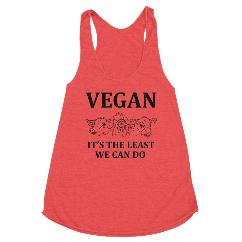 VEGAN IT'S THE LEAST WE CAN DO [Style 7] (Black Font) Women's Tank by That Vegan Couple's Shop