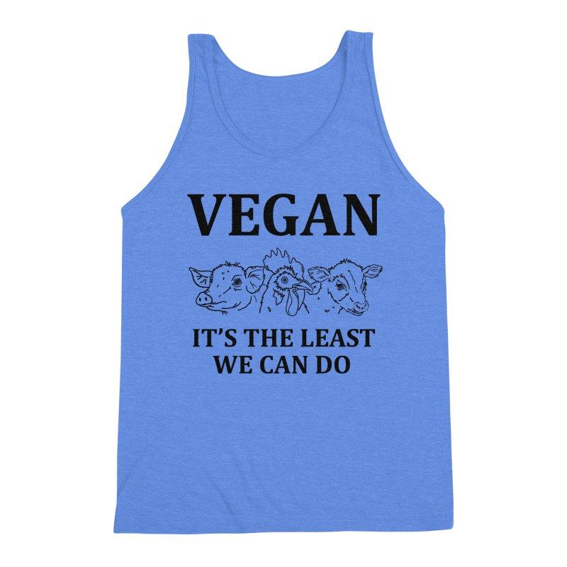 VEGAN IT'S THE LEAST WE CAN DO [Style 7] (Black Font) Men's Tank by That Vegan Couple's Shop