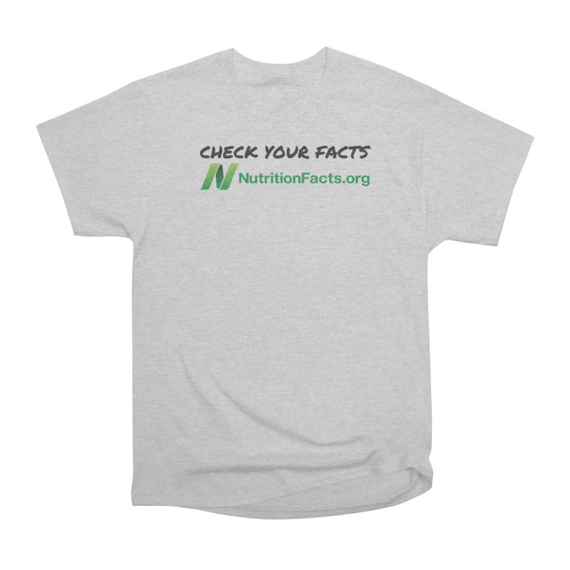 50% of profits for this item will be donated to NutritionFacts.org Men's T-Shirt by That Vegan Couple's Shop