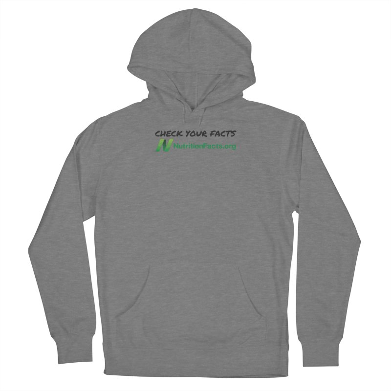 50% of profits for this item will be donated to NutritionFacts.org Women's Pullover Hoody by That Vegan Couple's Shop