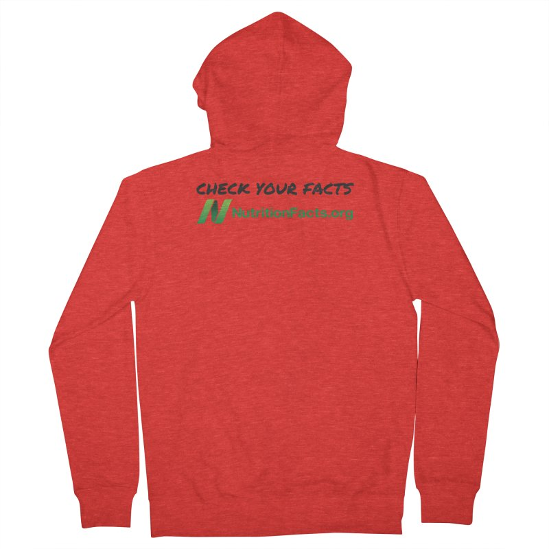 50% of profits for this item will be donated to NutritionFacts.org Women's Zip-Up Hoody by That Vegan Couple's Shop