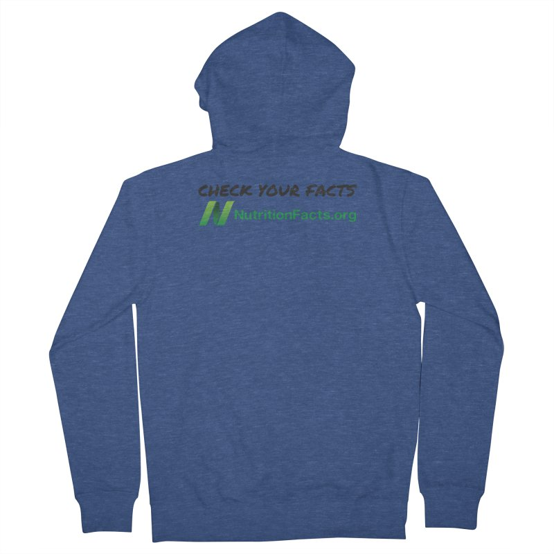 50% of profits for this item will be donated to NutritionFacts.org Men's Zip-Up Hoody by That Vegan Couple's Shop