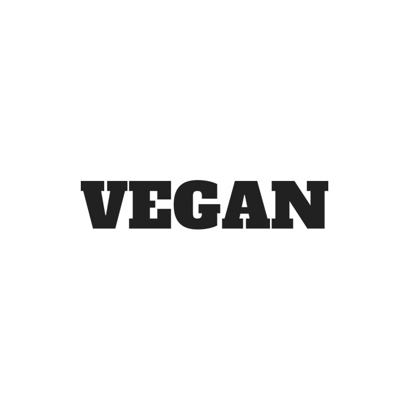 VEGAN [Style 1] (Black Font) by That Vegan Couple's Shop