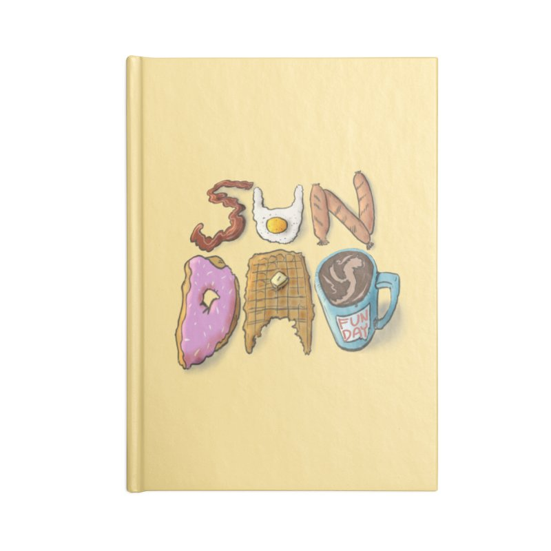 Sunday Funday Accessories Lined Journal Notebook by the DRiP