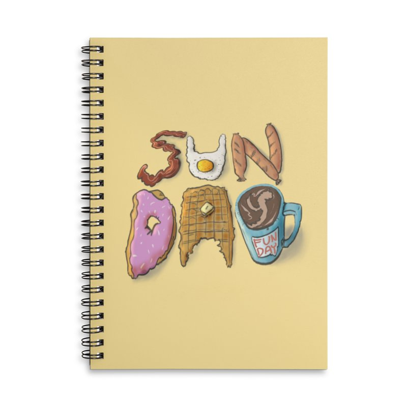 Sunday Funday Accessories Lined Spiral Notebook by the DRiP