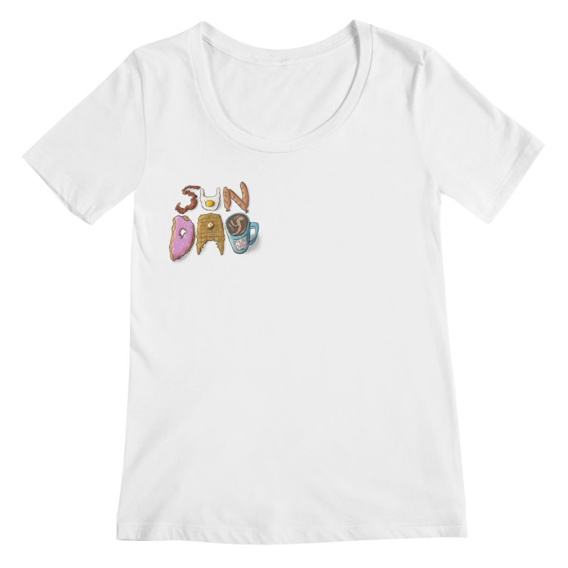Sunday Funday Women's Regular Scoop Neck by the DRiP