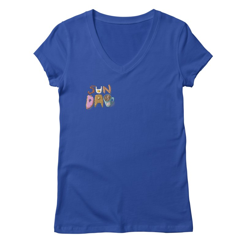 Sunday Funday Women's Regular V-Neck by the DRiP