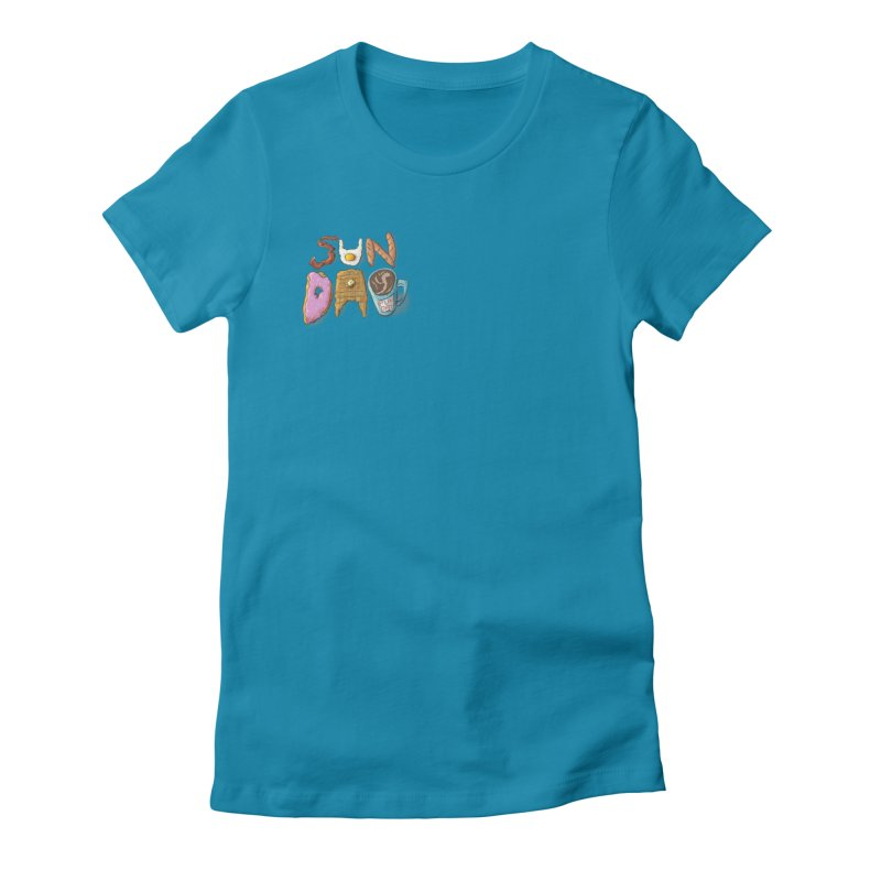 Sunday Funday Women's Fitted T-Shirt by the DRiP