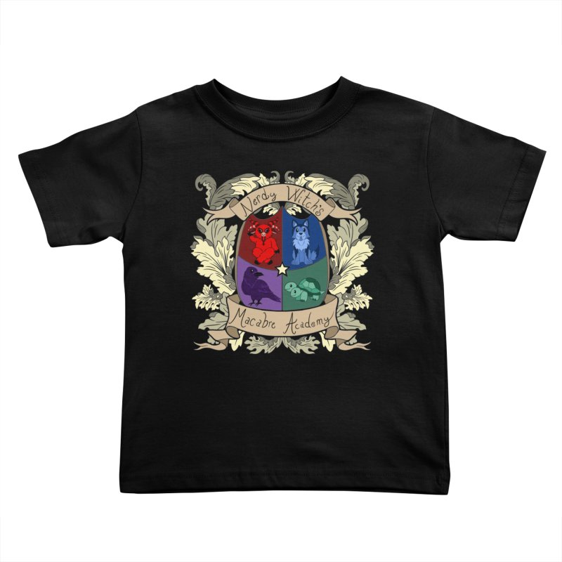 The Macabre Academy Crest Kids Toddler T-Shirt by theMacabreAcademy's Artist Shop