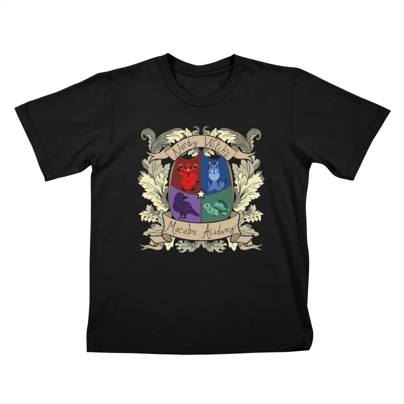 The Macabre Academy Crest Kids T-Shirt by theMacabreAcademy's Artist Shop