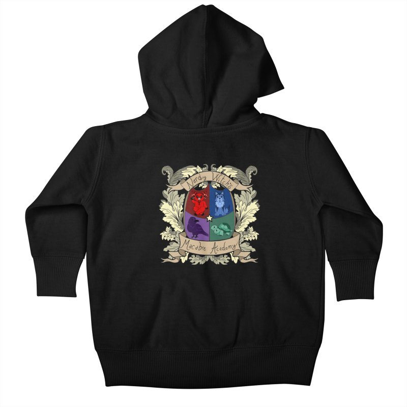 The Macabre Academy Crest Kids Baby Zip-Up Hoody by theMacabreAcademy's Artist Shop