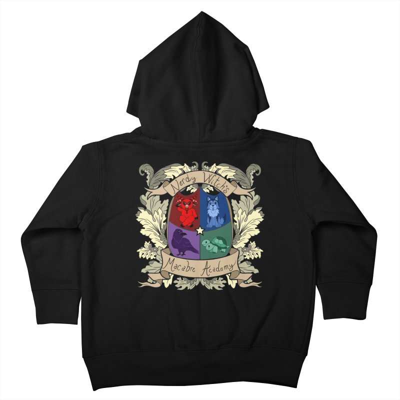 The Macabre Academy Crest Kids Toddler Zip-Up Hoody by theMacabreAcademy's Artist Shop