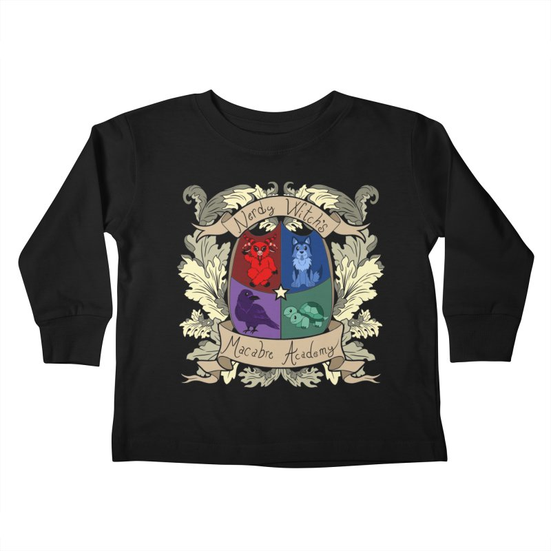 The Macabre Academy Crest Kids Toddler Longsleeve T-Shirt by theMacabreAcademy's Artist Shop