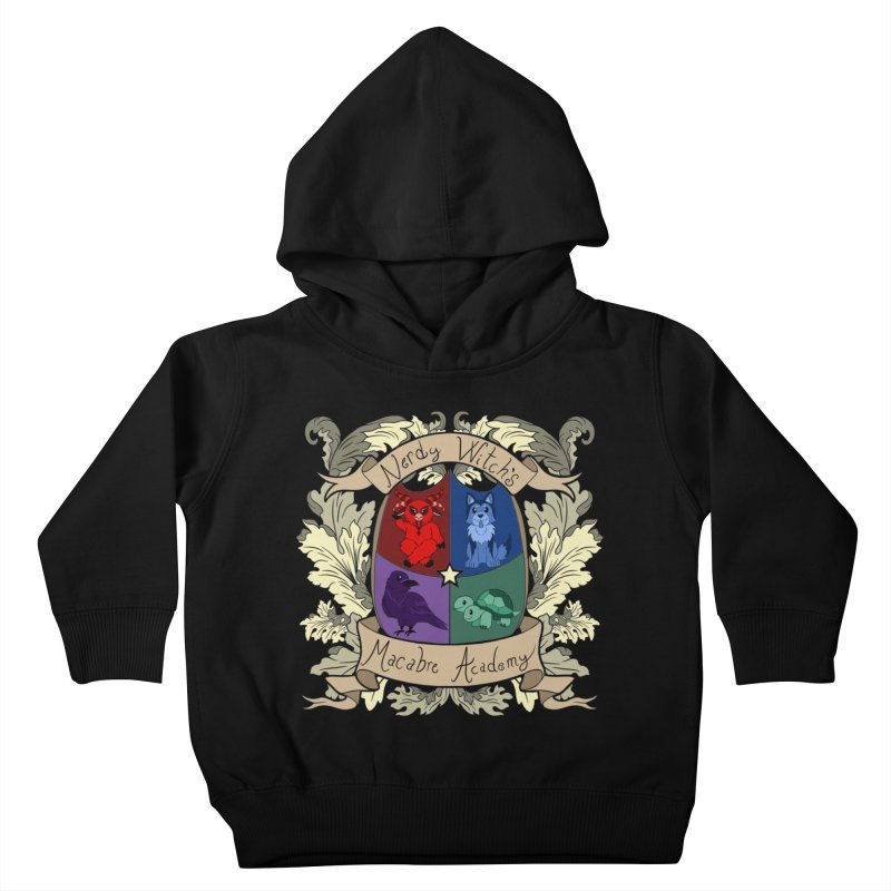 The Macabre Academy Crest Kids Toddler Pullover Hoody by theMacabreAcademy's Artist Shop