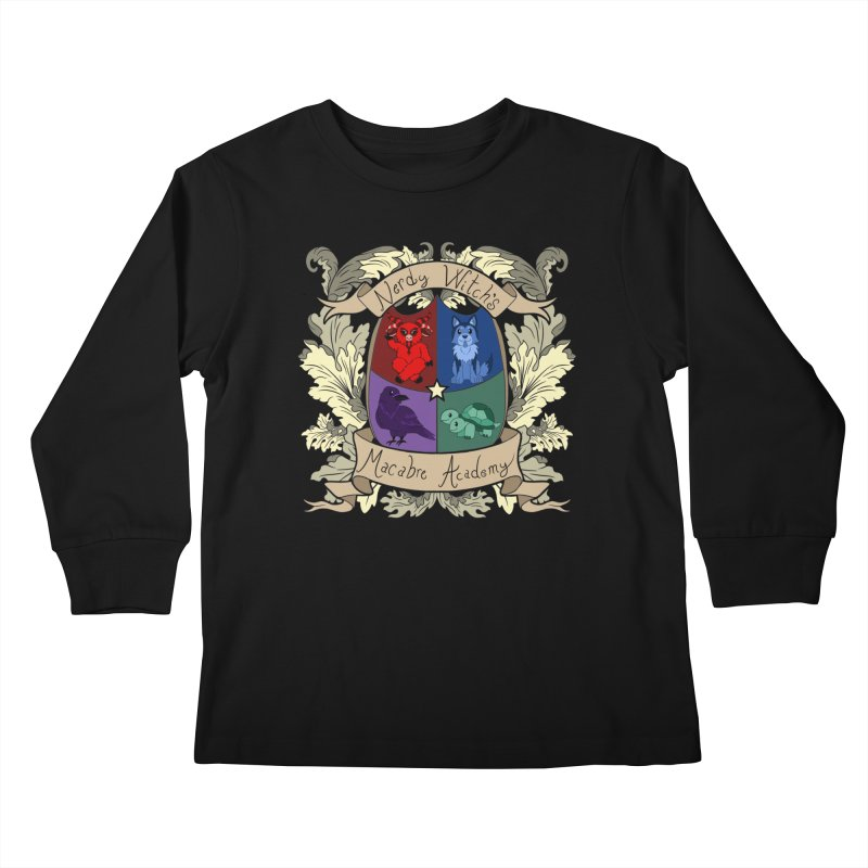 The Macabre Academy Crest Kids Longsleeve T-Shirt by theMacabreAcademy's Artist Shop