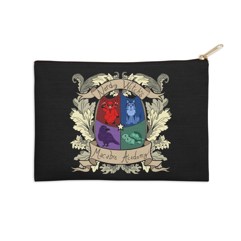 The Macabre Academy Crest Accessories Zip Pouch by theMacabreAcademy's Artist Shop